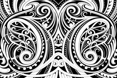 Maori ethnic ornament 일러스트