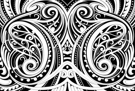 Maori ethnic ornament Ilustrace