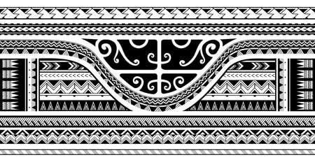 Maori stijl etnische ornament, goed voor mouw tattoo