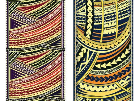 Set of Maori style ornaments.