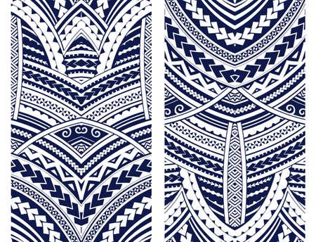 Set van Maori stijl ornamenten. Etnische thema's kunnen worden gebruikt als lichaamsmatatoetoo of etnische achtergrond.