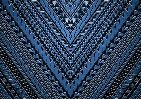 Maori en Samoa etnische stijl tribal ornamet. Goed voor mouw ornamenten of etnische thema illustratie