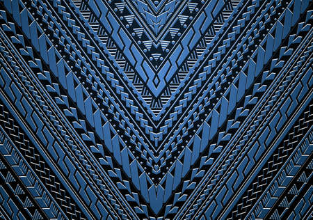 Maori und Samoa ethnischen Stammes-Ornamet. Gut für Ärmel Ornamente oder ethnische Thema Illustration Standard-Bild - 84146612
