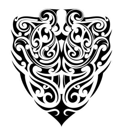 Ethnic style tribal tattoo Illustration