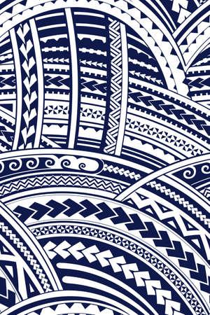 マオリ語スタイルのトライバル デザインのシームレスな背景の飾り