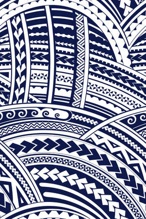 Maori stijl tribale ontwerp Naadloze achtergrond ornament Stock Illustratie