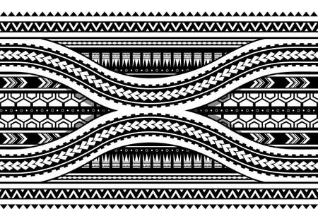 Maori-stijl patroon. Kan worden gebruikt als naadloos armbandontwerp Stock Illustratie