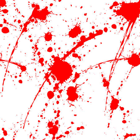 Blood splatter seamless pattern on white surface
