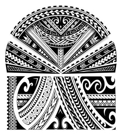 Maori ethnic style sleeve tattoo ornament
