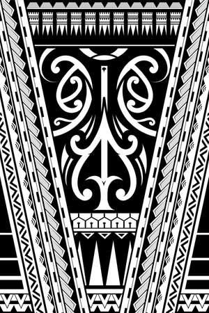 マオリの部族芸術飾り。スリーブのタトゥーとして使用することができます。