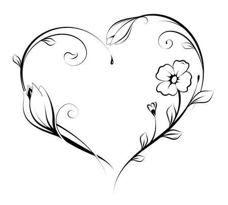 Floral Herzform Design.