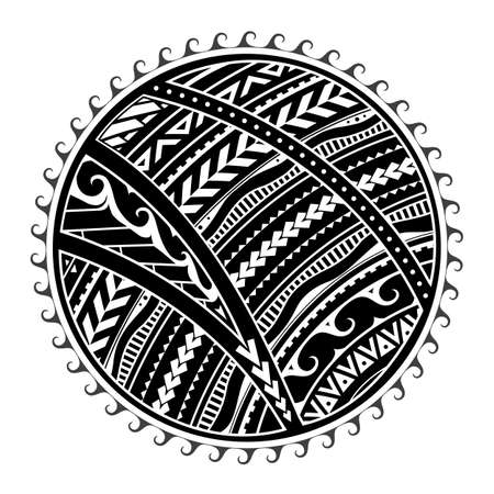 Tribal tattoo in Maori style