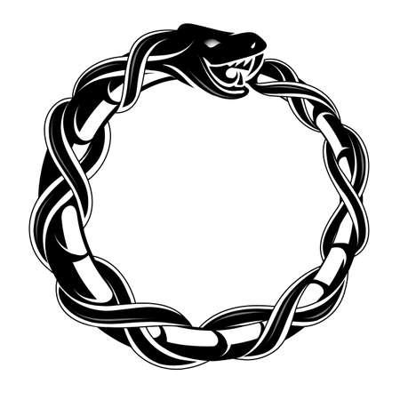 Ouroboros concept tattoo shape