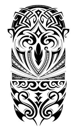Sleeve size tattoo ornament