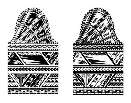 Tamaño de la manga del tatuaje estilo maorí