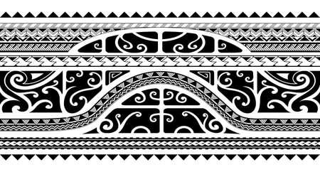 Tribal style arm band tattoo, seamless