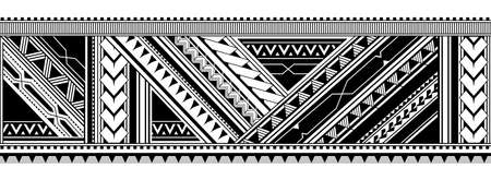 Maori style tattoo ornament. Good for sleeve pattern Ilustrace