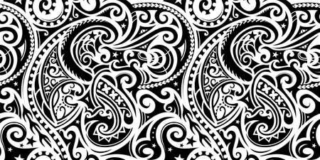 Adorno étnico sin costuras Ilustración de vector