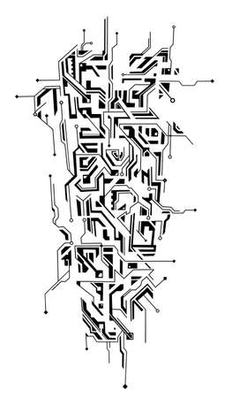Circuit ornament as a tattoo sleeve shape