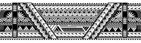Maori style tattoo ornament. Good for sleeve pattern Ilustração