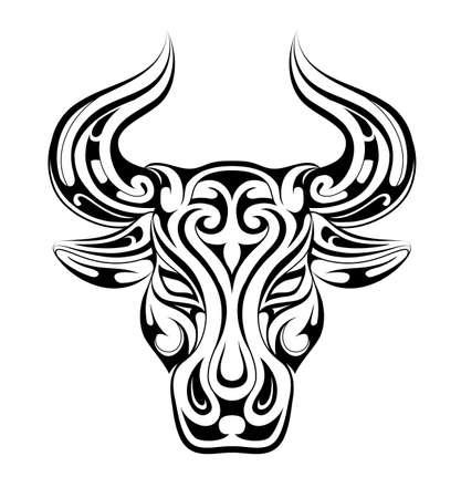 Taurus tattoo as zodiac symbol