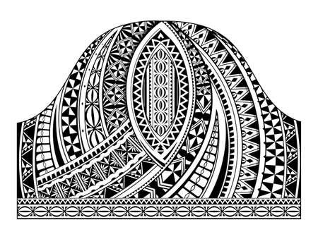 Forma de tatuaje de media manga tradicional polinesio