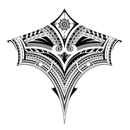 Polynesian style ornament, good for back tattoo or sleeve pattern Illustration