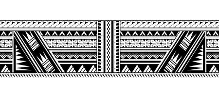 Maori style ornament shaped as sleeve pattern or armband Vector Illustration
