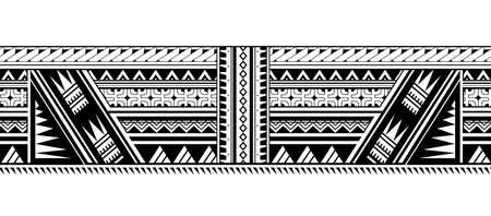 Maori style ornament shaped as sleeve pattern or armband Illustration