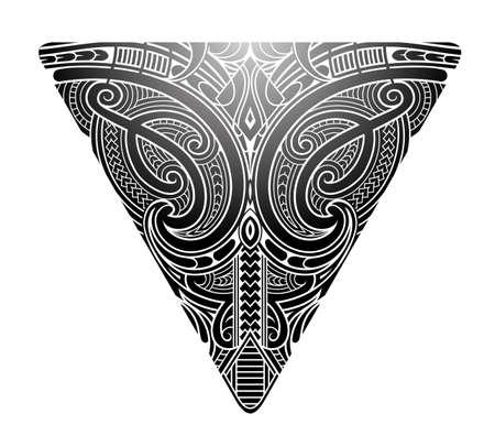 Maori style koru tattoo