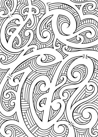 Polynesian ethnic ornament. Tribal tattoo for sleeve area