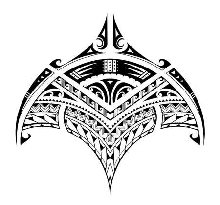Ornamente im polynesischen Stil in Form eines Mantas