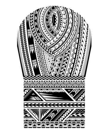 Maori-Stammeskunstmuster. Gut für Tattoo-Ornamente im Schulter- und Ärmelbereich