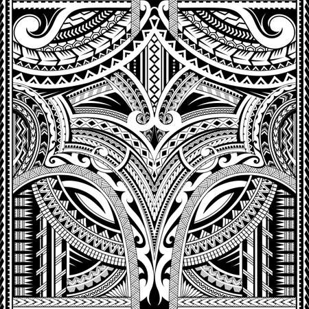 Maori style seamless tattoo. Good for sleeve area