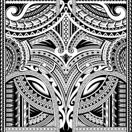 Tatuaje sin costuras de estilo maorí. Bueno para el área de la manga