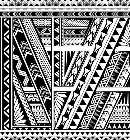 Bande ornementale de style polynésien pour tatouage de manche Vecteurs