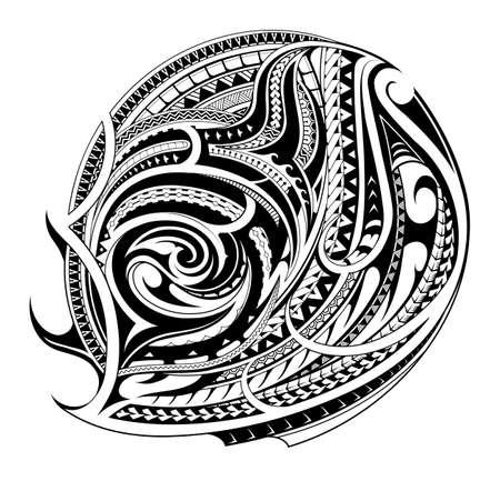 Polynesisches ethnisches Tattoo für Bizeps oder Brustbereich Vektorgrafik