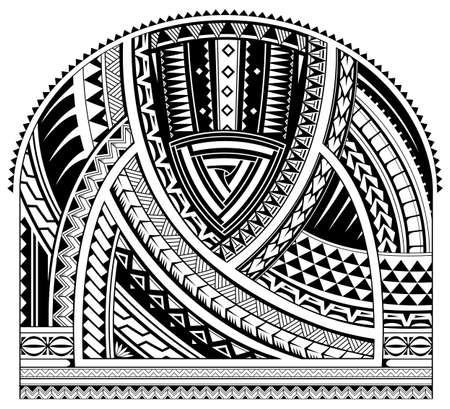 Tribal Tattoo am Ärmel im ethnischen Stil der Maori