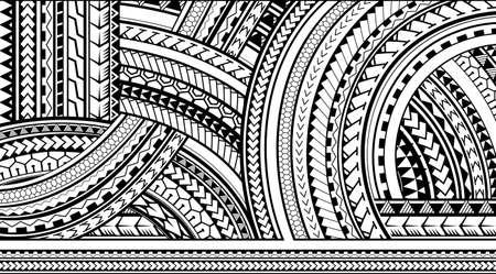 Maori style tattoo ornament for print purposes Vectores