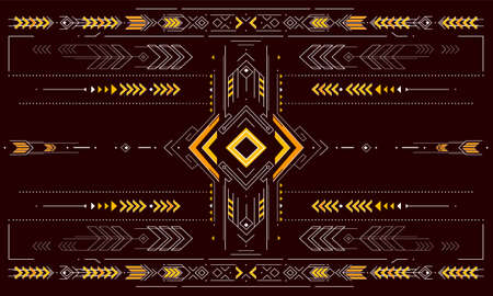 Decorative backdrop design with arrows and ethnic geometric elements