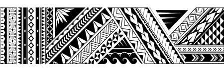 Tattoo-Design im Maori-Stil. Gut für Armbandtinte Vektorgrafik