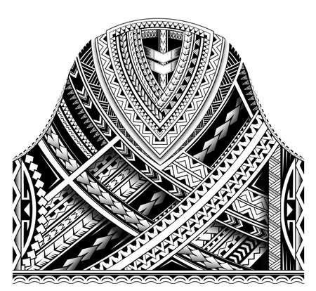 Estilo étnico maorí para el diseño de tatuajes tribales.