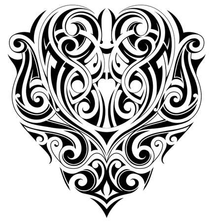 Tribal art tattoo. Good for shoulder areas Vectores
