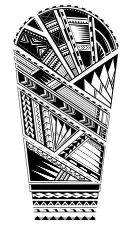 Sleeve tattoo ornament in Maori tribal art style Vektorgrafik