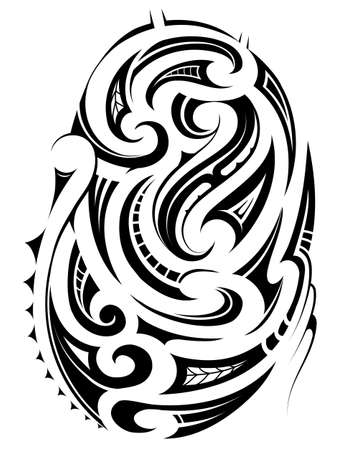 Tribal style ornament for ethnic tattoo Vettoriali