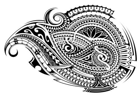 Ethnic tattoo shape in Polynesian Cook island style. Good for sleeve ornament