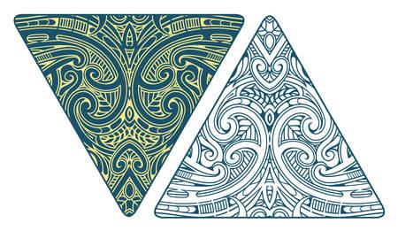 Ethnic triangle ornament in Maori style