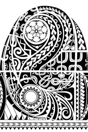 Sleeve tribal tattoo in Maori ethnic style Vectores