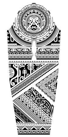 Polynesian ethnic style ornament full sleeve design