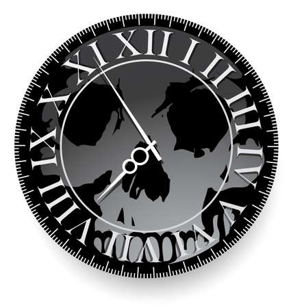 Tattoo concept with skull inside the clocks